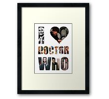 I *Heart* Doctor Who Framed Print