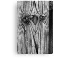 Here's Looking at You 2 Black and White Canvas Print
