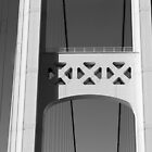 Mackinac Bridge Detail 3 Black and White by marybedy