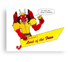 Beelzebub's Lord of the Fries Canvas Print