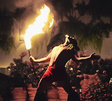Hawaiian Fire Dancer by Victoria Nelson