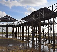 Indonesian fishing jetty by Leone