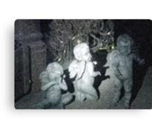 Baby Weeping Angels digital oil painting Canvas Print