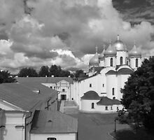 Saint Sophia Cathedral in Novgorod, Russia by olegkuzmin