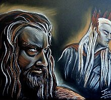 """He never forgave, he never forgot"" Thorin and Thranduil by jos2507"