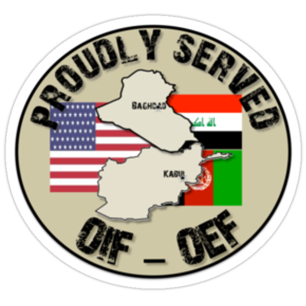 PROUDLY SERVED -OIF/OEF by SandSquid