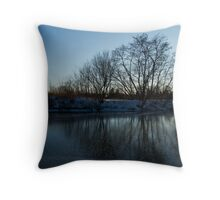 Icy Cool Blue Reflections Throw Pillow