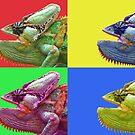 Chameleon PopArt by Nicole Zeug