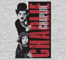 Charlie Chaplin with little girl by ThreeSecond DesignandArt