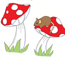 Mouse on Toadstool by gillianlock