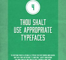 Commandment #4 of graphic design by Janna Barrett