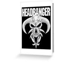 Headbanger Demon Skull Greeting Card