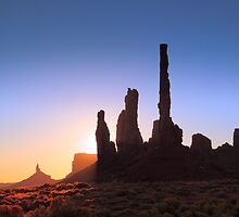 Sunrise in Monument Valley by Roupen  Baker