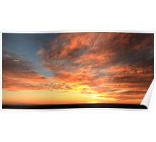 Colorful Sunset Sky over the Mohave Desert Poster