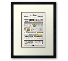 50 Marriage Tips •Spring Colors Framed Print