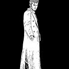 dr who digital pen and ink sketch by LokiLaufeysen