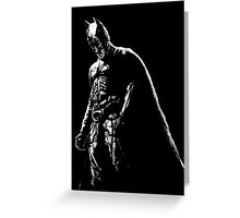 The Dark Knight (black background) Greeting Card