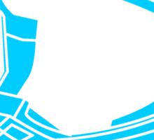 Mx Helmet Bright Blue Sticker