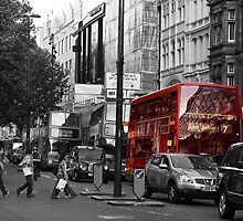 London Bus  by rainerkphotogra