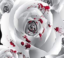 Bloody White Rose by TinaGraphics