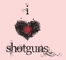 I <3 Shotguns (black & red) by Jess Meacham