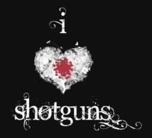 I <3 Shotguns (white  & red) by Jess Meacham