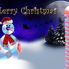 Christmas CD Snowman by jkartlife