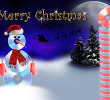 Christmas CD Snowman by jkartlife