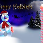 Happy Holidays CD Snowman by jkartlife