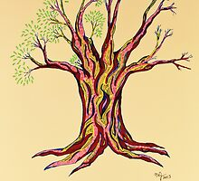A Little More Serenity Tree by Mary-Jeanne Smith