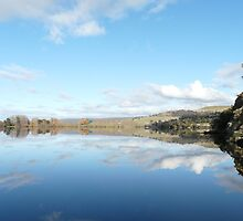 Meadowbank Dam reflections by Christine Lovell