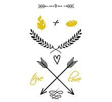 Fire + Bread = True Love Photographic Print