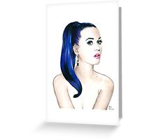 Katy Perry Sketch Greeting Card