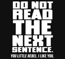 Do Not Read The Next Sentence by Al Craker