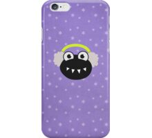 Cute Cartoon Bug Earflaps Purple Winter iPhone Case/Skin