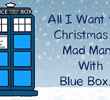 Tardis Christmas Card  by Rainpotion