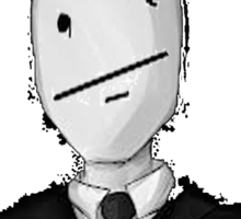 Slenderman Poker-Face Sticker