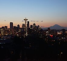 Beautiful Blue Hour-Seattle, WA by Ian Phares