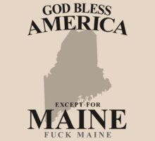 God Bless America Except For Maine	 by crazytees