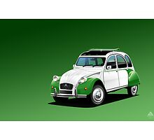Citroen 2CV Dolly Poster illustration by Autographics