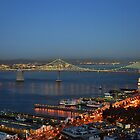 A view of the San Fransisco Bay at Dusk by kellimays
