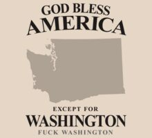 God Bless America Except For Washington by crazytees