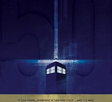 50 years of the Doctors TARDIS by Daniel Fitzpatrick
