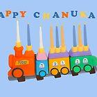 Chanukiyah Greeting Card by curlyorli