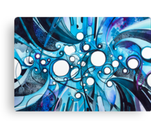 Medium Hadron Collider - Watercolor Painting Canvas Print