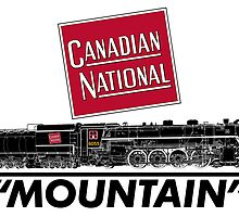 Canadian National Mountain Steam Locomotive by Michel Godts