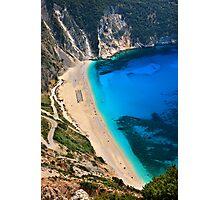 Myrtos beach & Casper the friendly ghost Photographic Print