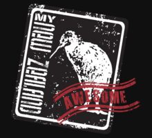 My New Zealand Kiwibird -Black T shirt is cool! by yolan
