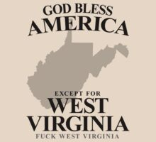 God Bless America Except For West Virginia by crazytees