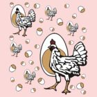 Retro Chickens by cesstrelle
